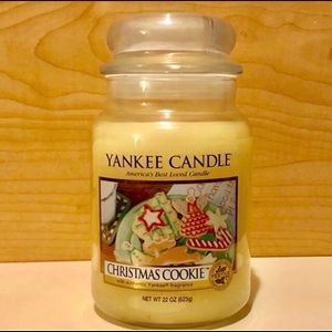 YANKEE CANDLE 22oz Jar Christmas Cookie